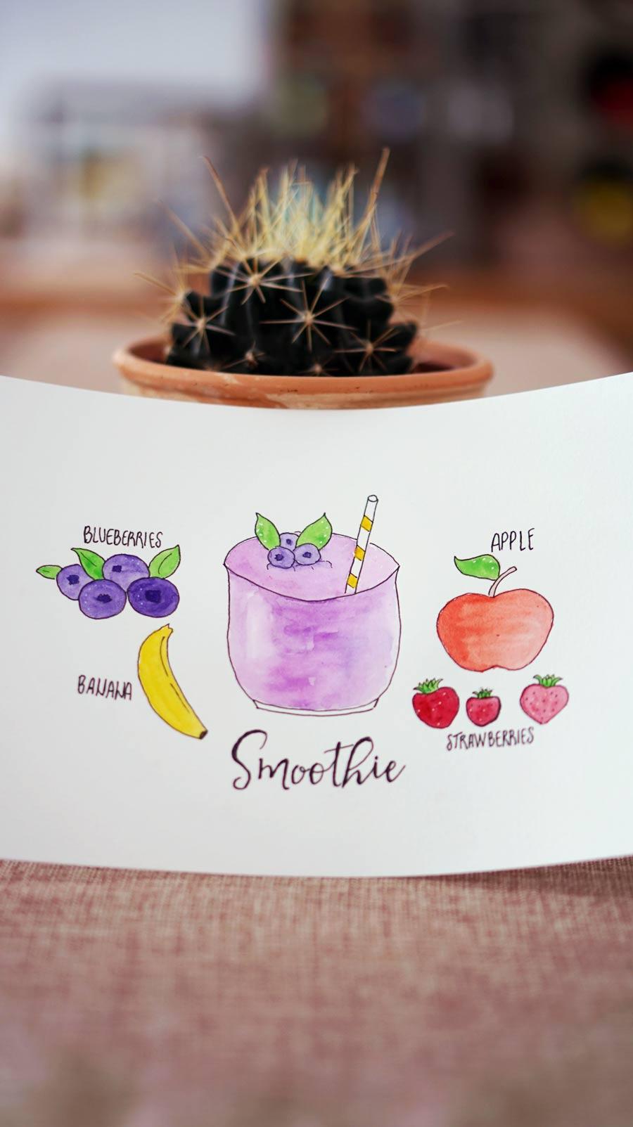Smoothie Recipe Drawing